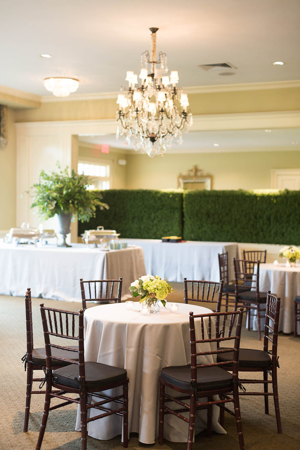 reception table scapes and florals at Memphis Country Club