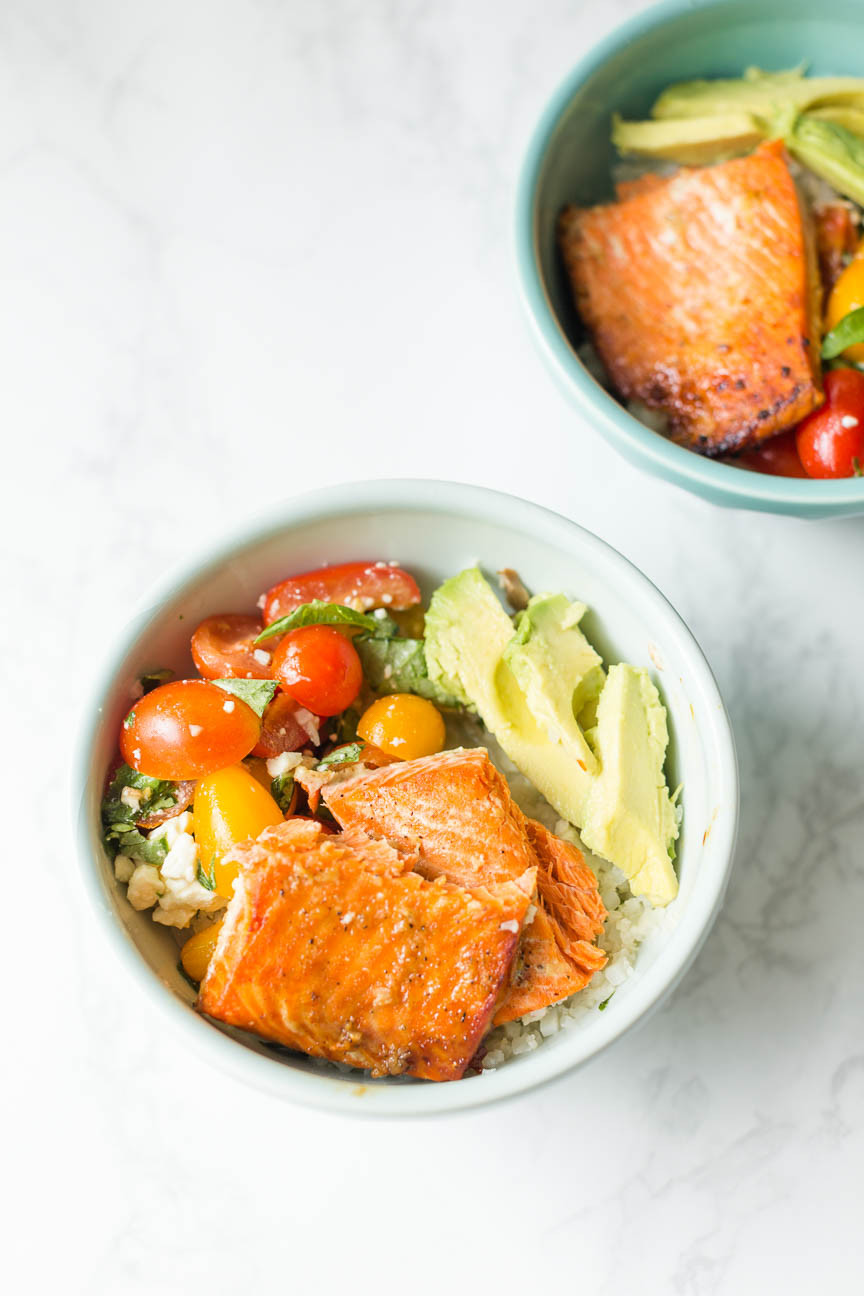 Honey Lime Salmon Bowls