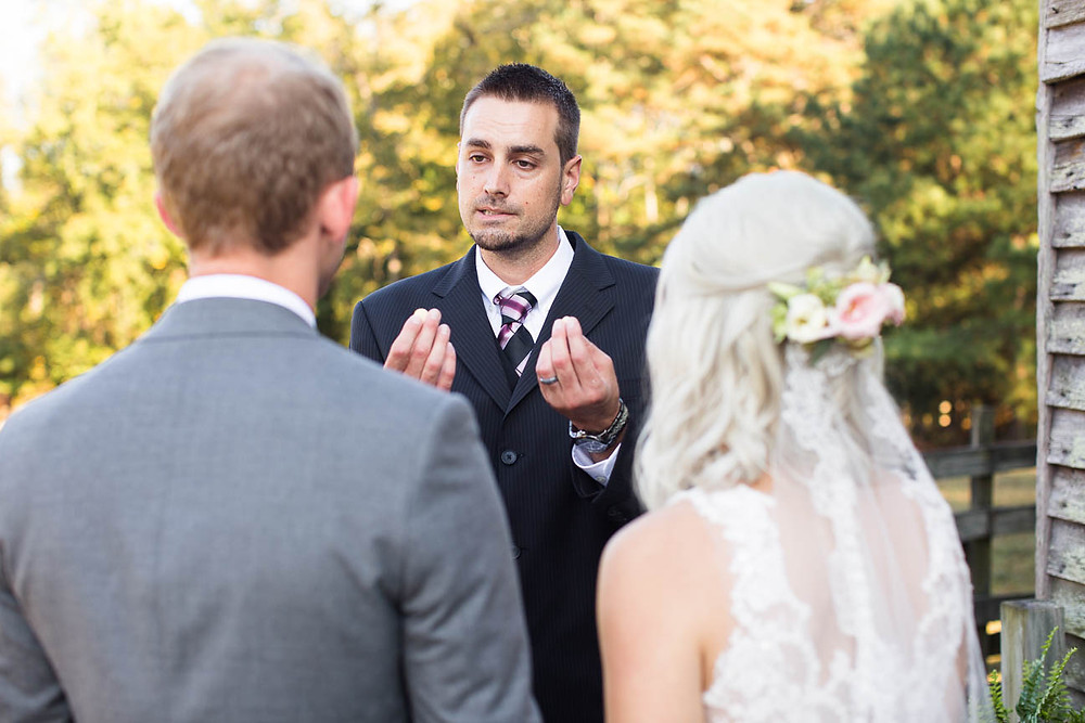 paster gives community to newlyweds