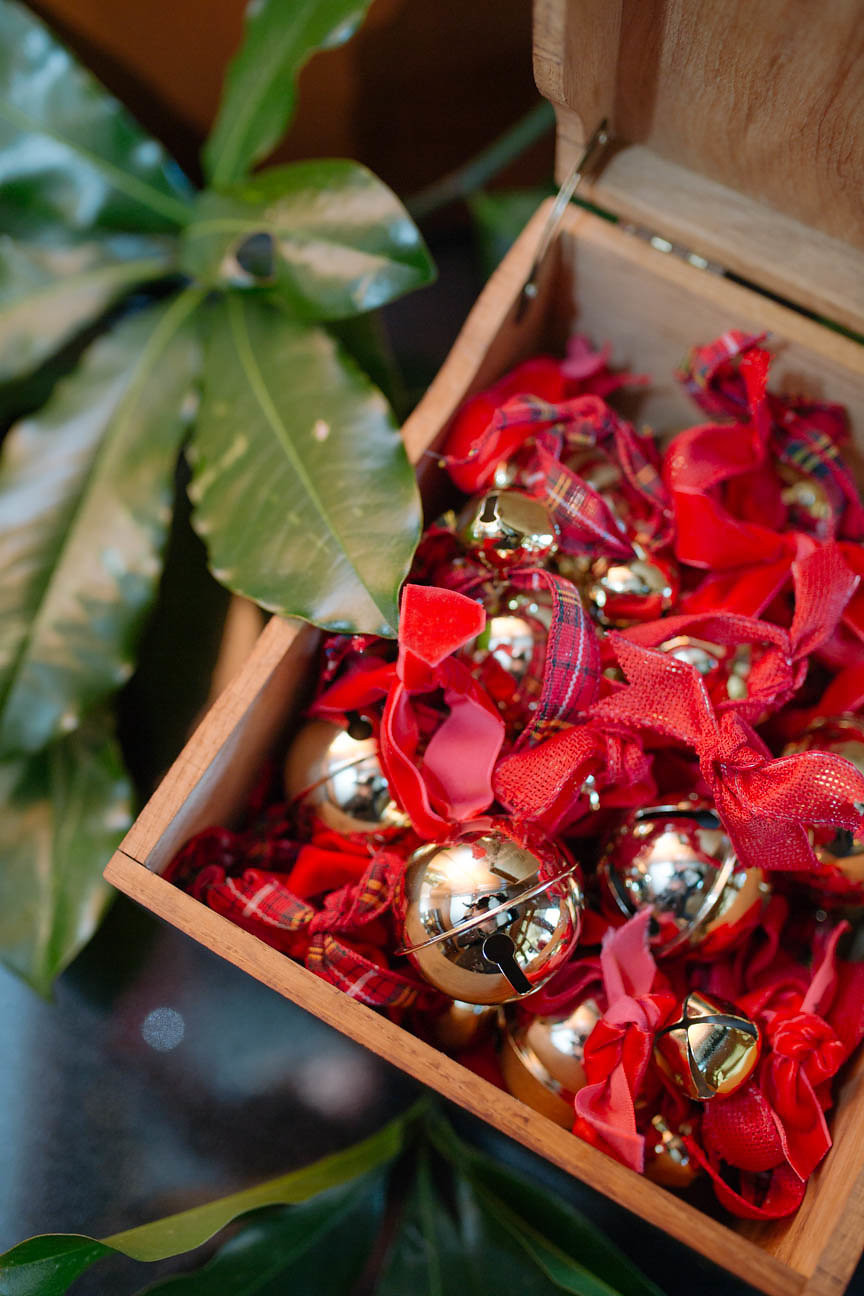 image of jingle bells in wooden box