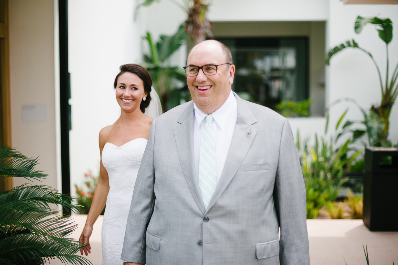 Bride and Dad's First Look