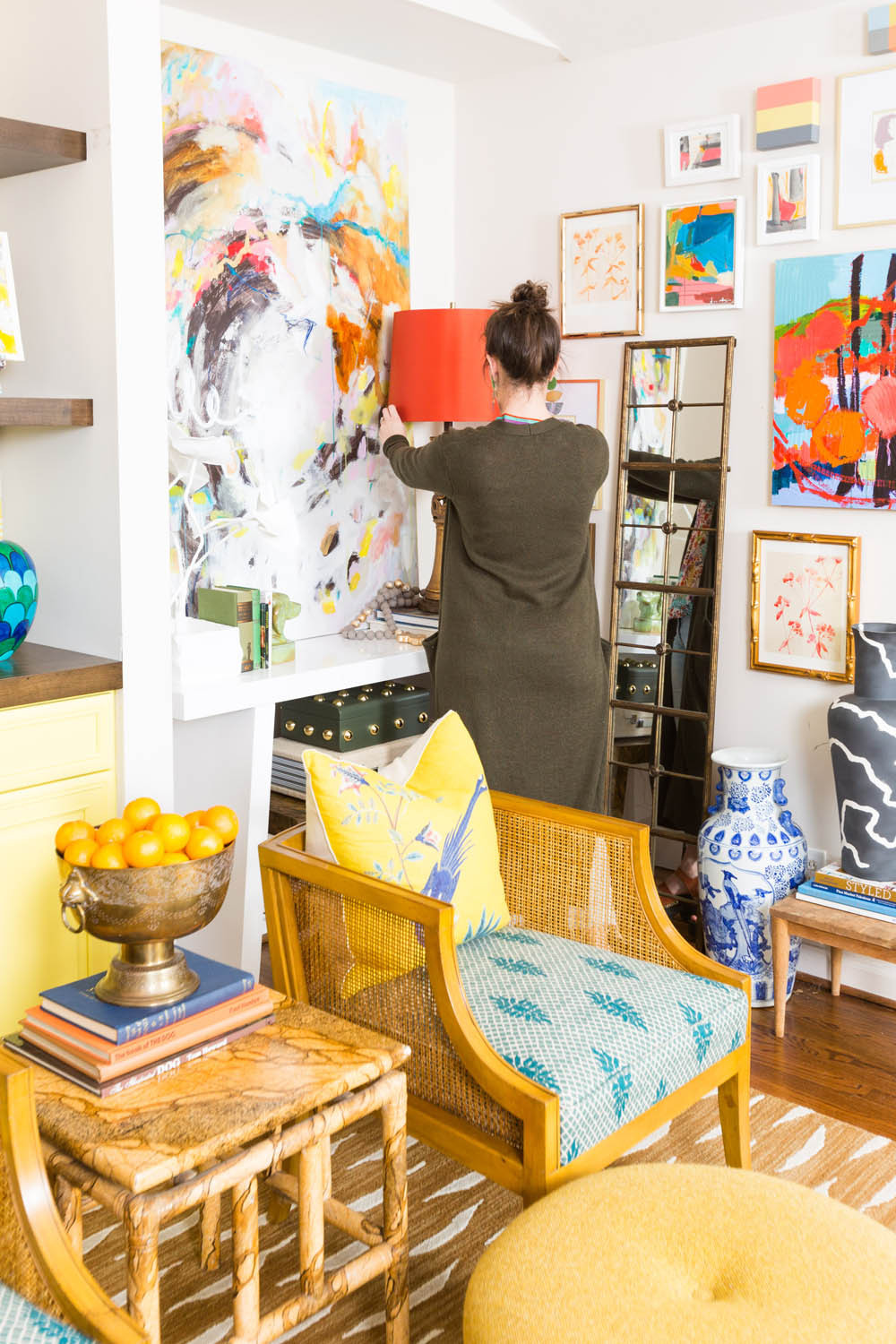 Image of Amanda Louise Interiors decorating a home by photographers in greenville sc