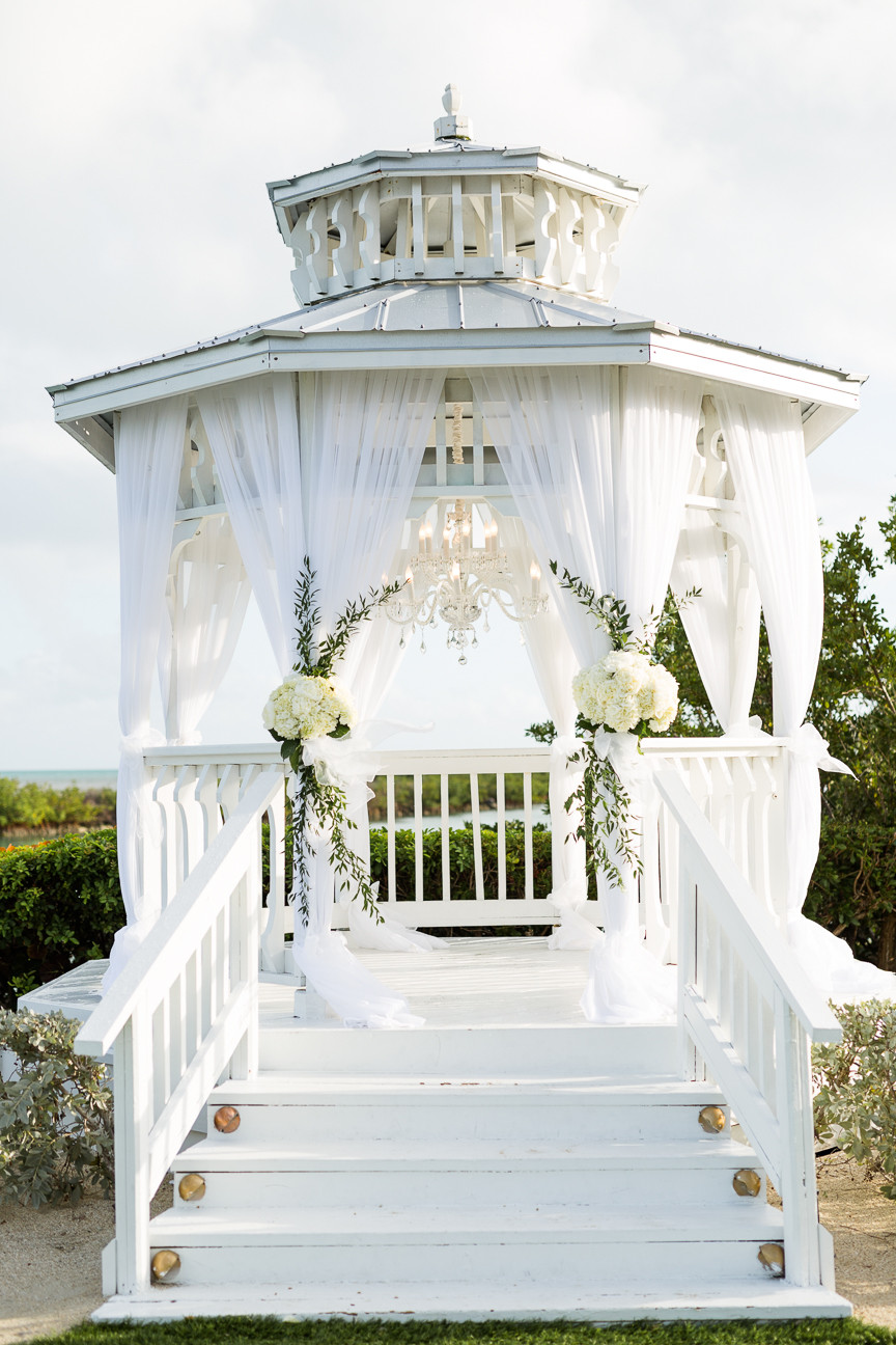 Wedding gazebo at Hawkes Cay Resort, destination wedding, southern weddings, wedding photography, detail shot