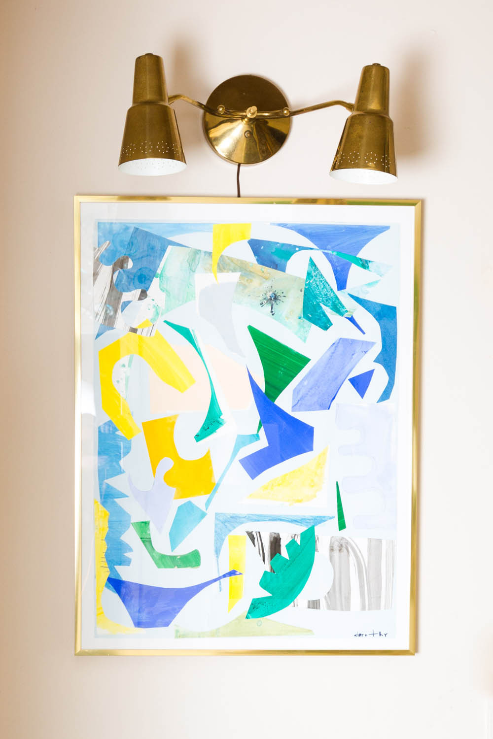 Image of dorothy shain art in home by interior designer by photographers in greenville sc