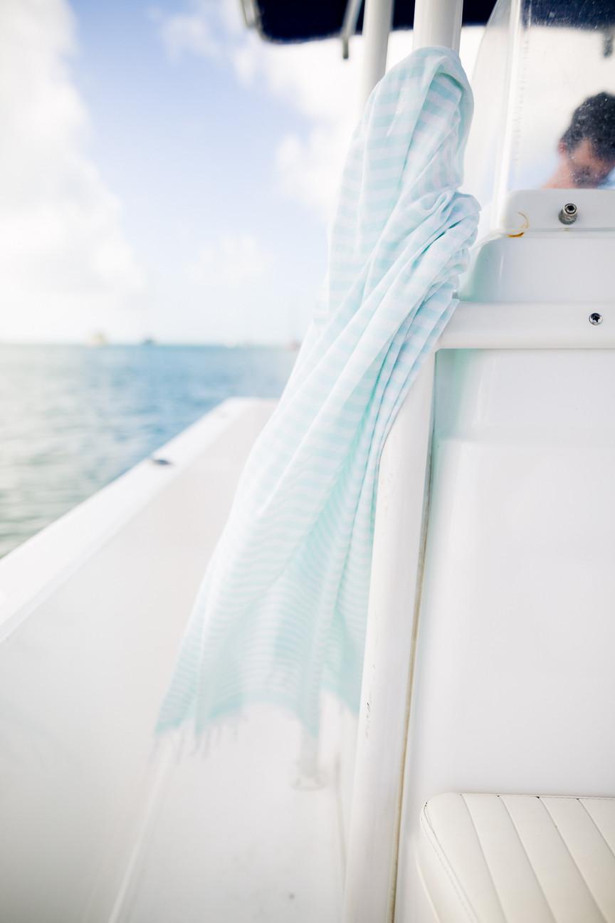 Turkish Tee Towel on Boat in Key West