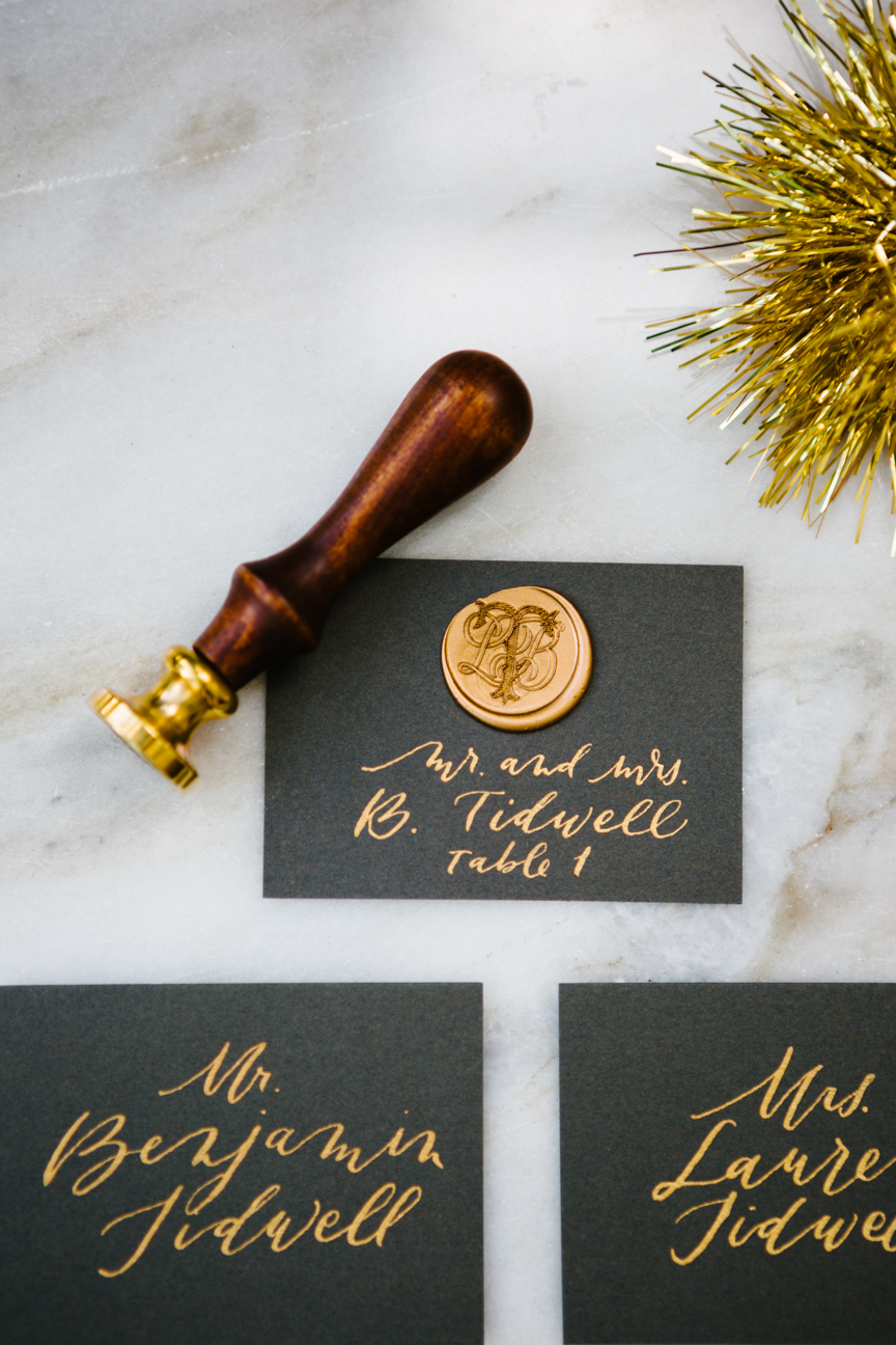Escort Cards with Stamp