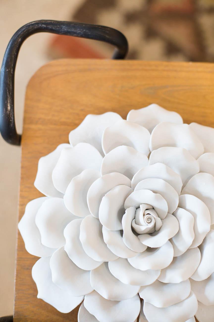 ceramic flower at Urban Digs gift shop