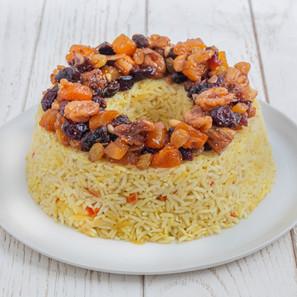 """עוגת אורז עם טנזיה לט""""ו בשבט (טבעונית, ללא גלוטן)"""