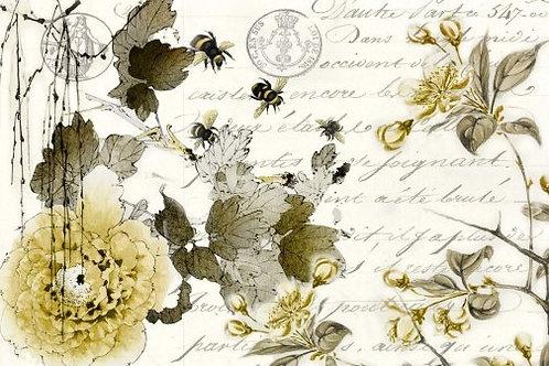 Sepia Blossom Decoupage