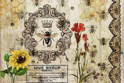 Hive Syrup Decoupage