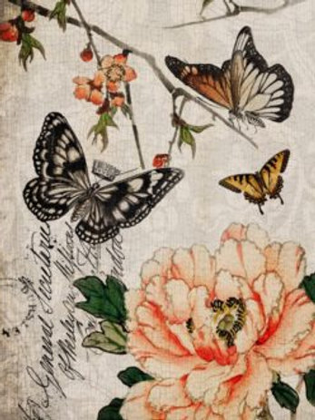 Butterfly Floral Decoupage