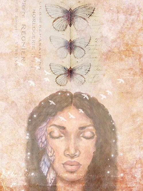 D. Mack Peaceful Meditation Decoupage