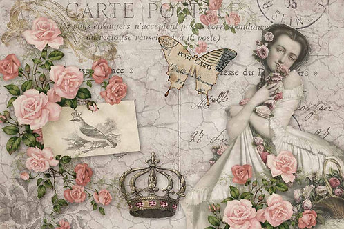Rosie's Postcard Decoupage