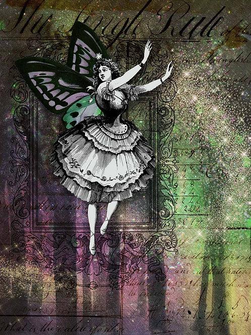 Northern Lights Fairy Decoupage