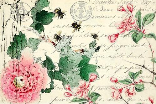 Cherry Blossoms Decoupage