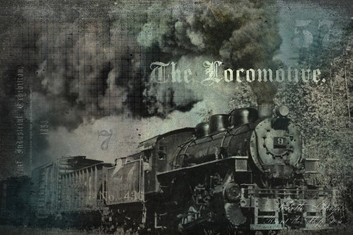 The Locomotive Decoupage