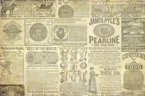 Vintage Ad Decoupage