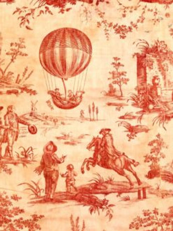 Red Toile Decoupage