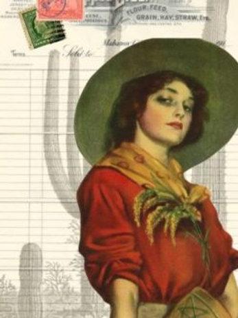 Cowgirl Ephemera Decoupage