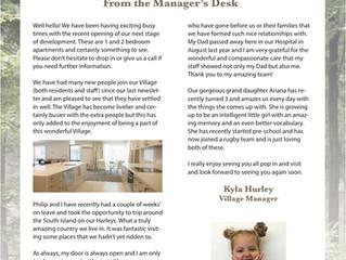 April 2018 Newsletter