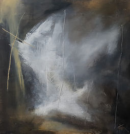 Abstract art, abstract painting, oil painting, abstract expressionism, Jenny Fox, dark painting, You know how time flies.