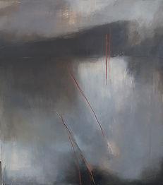 Oil painting, abstract oil painting, abstract painting, abstract art, abstract expressionism, grey painting, Jenny Fox. I got lost somewhere.
