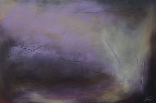 Jenny Fox, oil painting, abstract oil painting, abstract art, abstract expressionism, purple painting, lavender painting.I stepped toward the stillness.