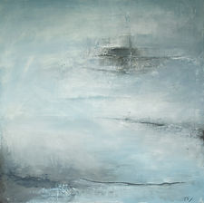Jenny Fox, abstract art, abstract oil painting, oil painting, abstract landscape, abstract expressionism, blue grey painting, Those funny little plans.