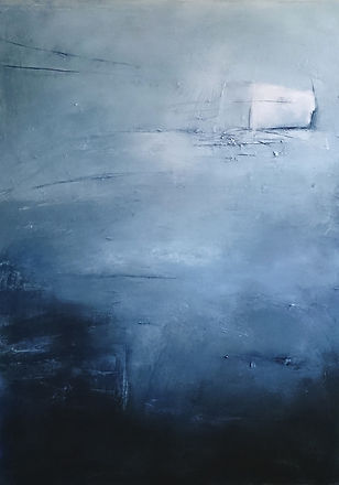 Oil painting, abstract art, mixed media art, abstract painting, abstract expressionism, Jenny Fox, blue painting, You know I love the city but I haven't got the time.