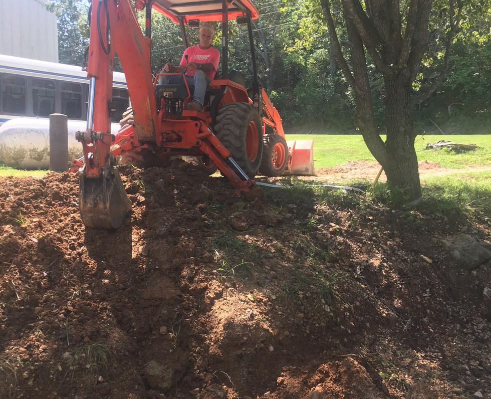 Utility Excavation with Backhoe