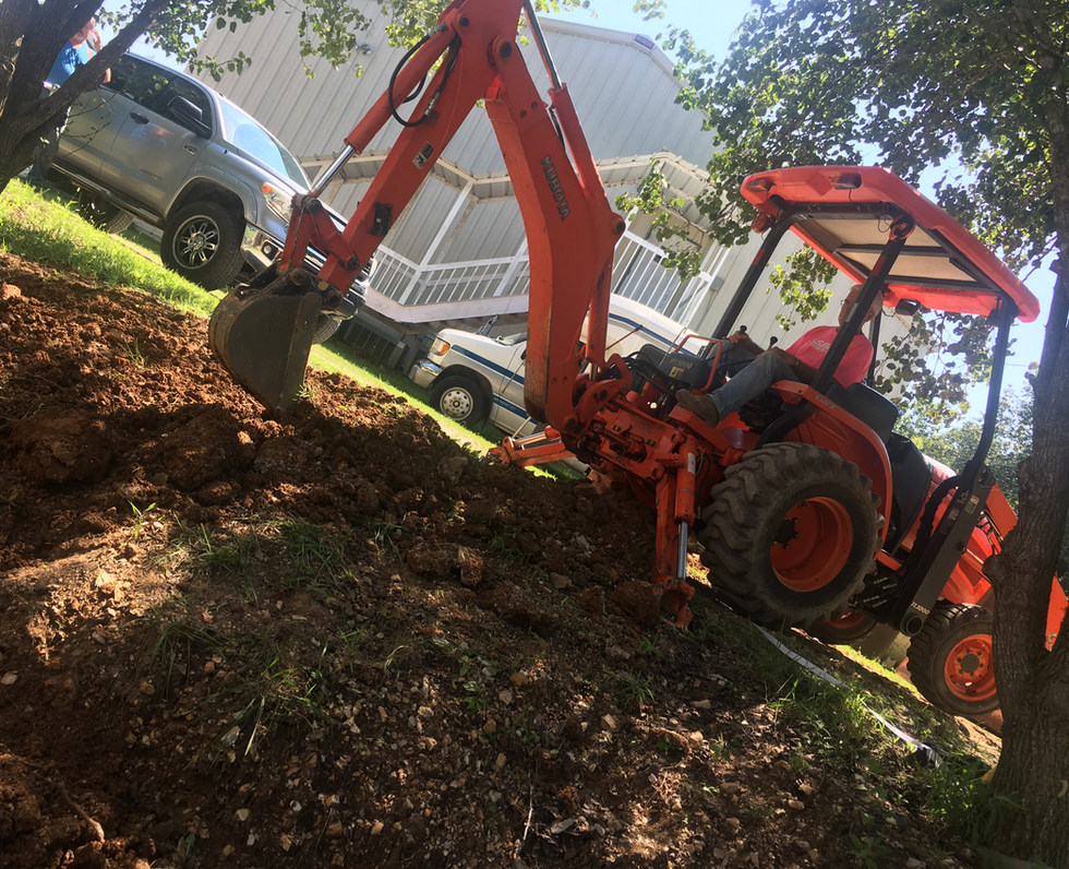 Excavation with Backhoe
