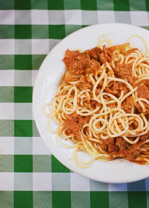 Homemade Spaghetti.