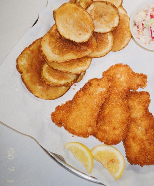 Fish & Spudder Chips.