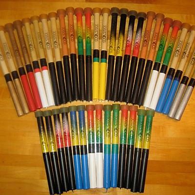 Basic and Spray painted sticks