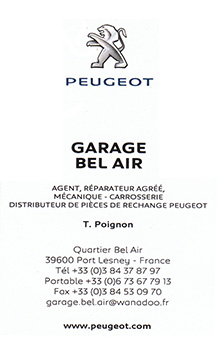 Garage bel-air Port Lesney