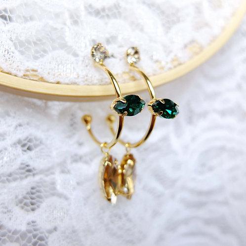 Grüne &Gold Steinen