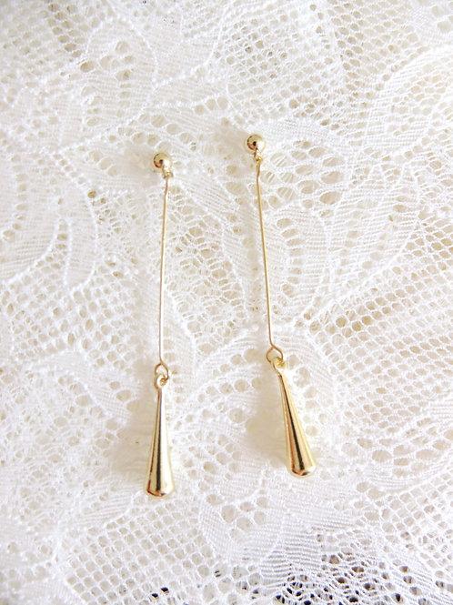 Gold lange Ohrringe