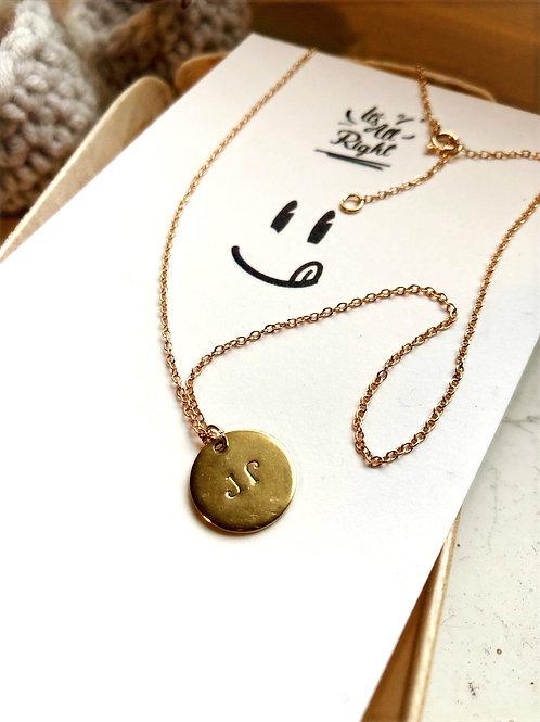 Gold Kreis mit Gravur Halsketten