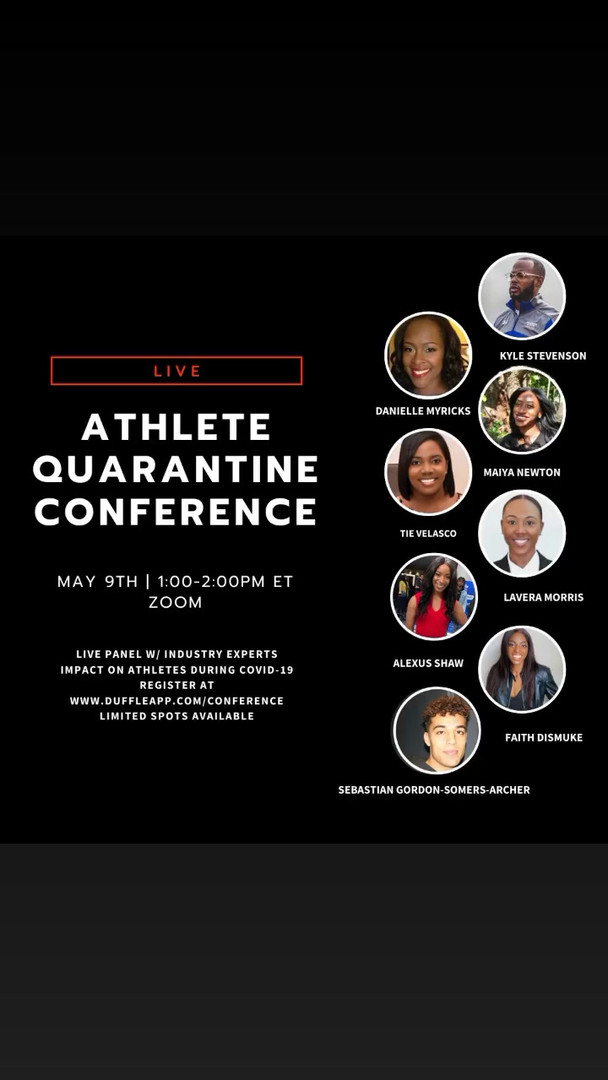 ATHLETE QUARANTINE CONFERENCE - MAY 2020