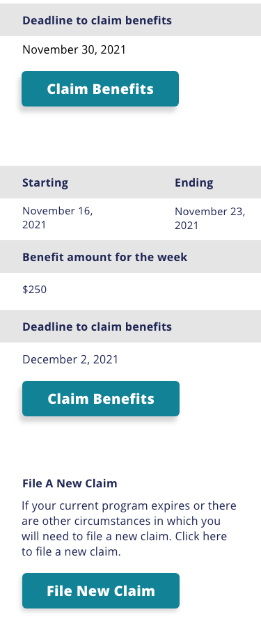 Unclaimed Benefits