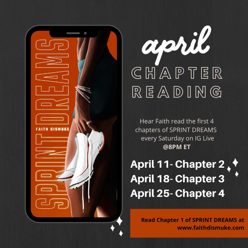 SPRINT DREAMS Chapter Reading - APRIL 2020