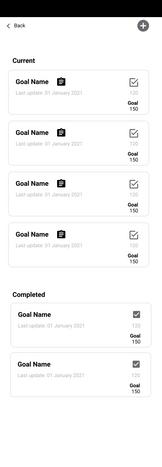 Goals Wireframe