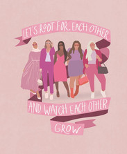 Let's Root For Each Other Art Print by l