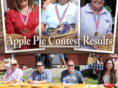 Apple Pie Contest Results