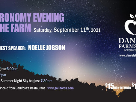 Saturday, September 11 - Astronomy Evening at the Farm