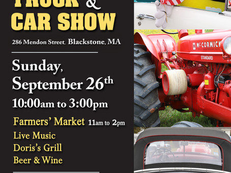 Annual Antique Tractor, Truck and Car Show - Sunday, September 26