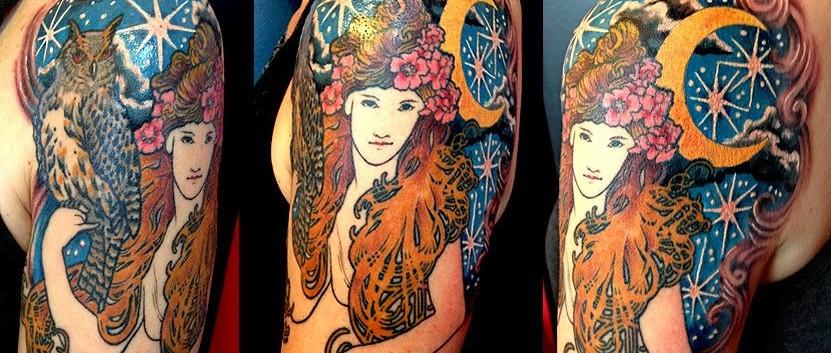 Art Nouveau Night Goddess