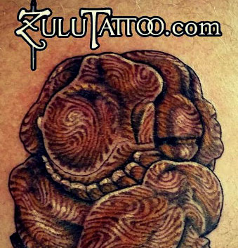 Wooden Weeping Buddha