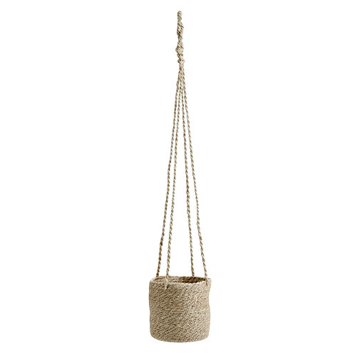 JUTE hanging pot natur