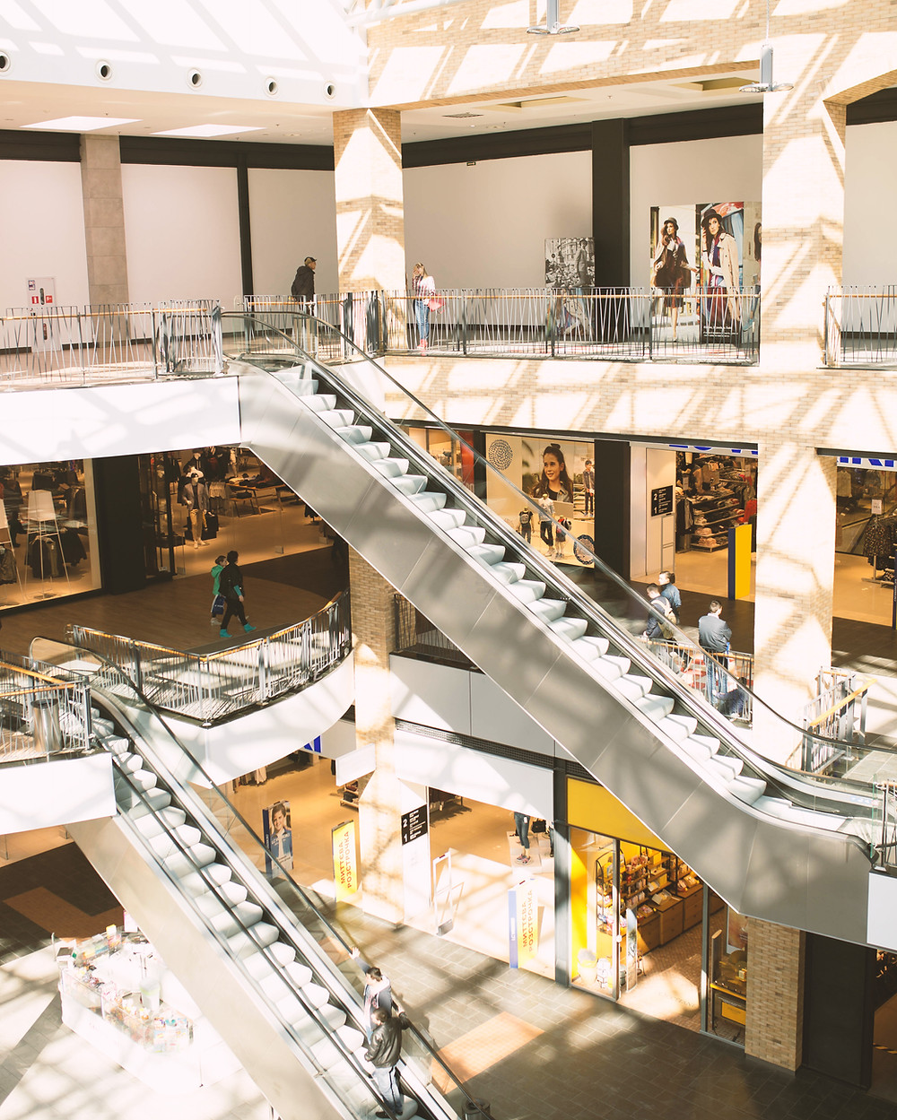 Inside a quiet traditional mall: foot traffic continues to decline